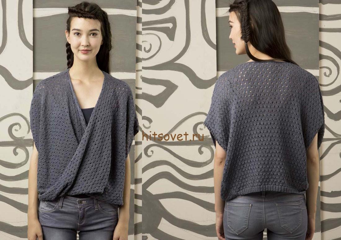Пуловер с перекрученными полочками, фото 2.
