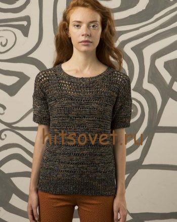 Вязание модного пуловера, фото 1.