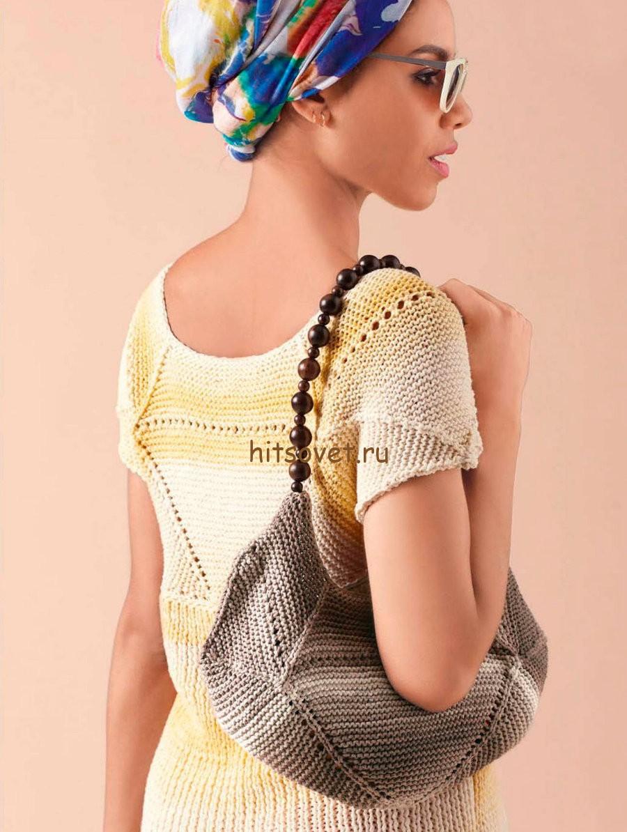 Вязание сумки спицами