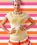 Вязание топа спицами для женщин, фото.