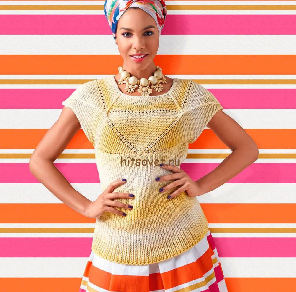Вязание топа спицами для женщин