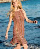 Модное вязаное платье, фото.