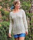 Пуловер женский спицами, фото 1.