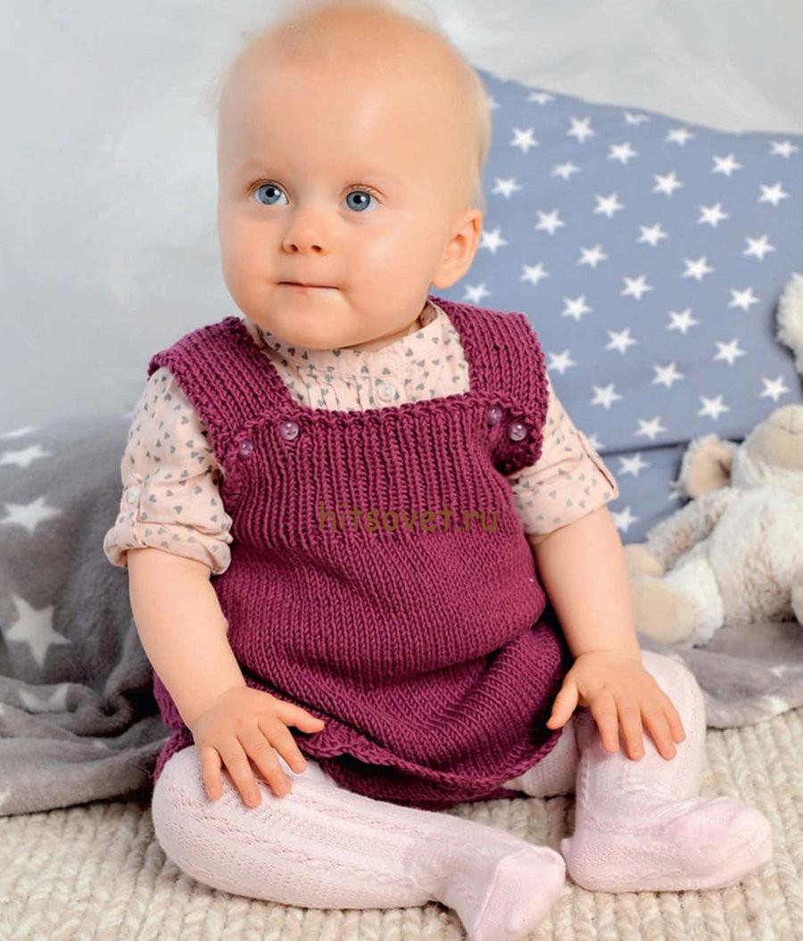 Вязаное платье для малышки, фото 2.