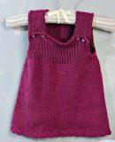 Вязаное платье для малышки, фото 1.