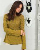 Пуловер круглой кокеткой, фото.