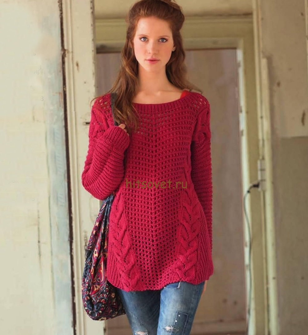 Пуловер в стиле оверсайз, фото 1.