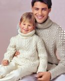 Свитер для папы и сына, фото.