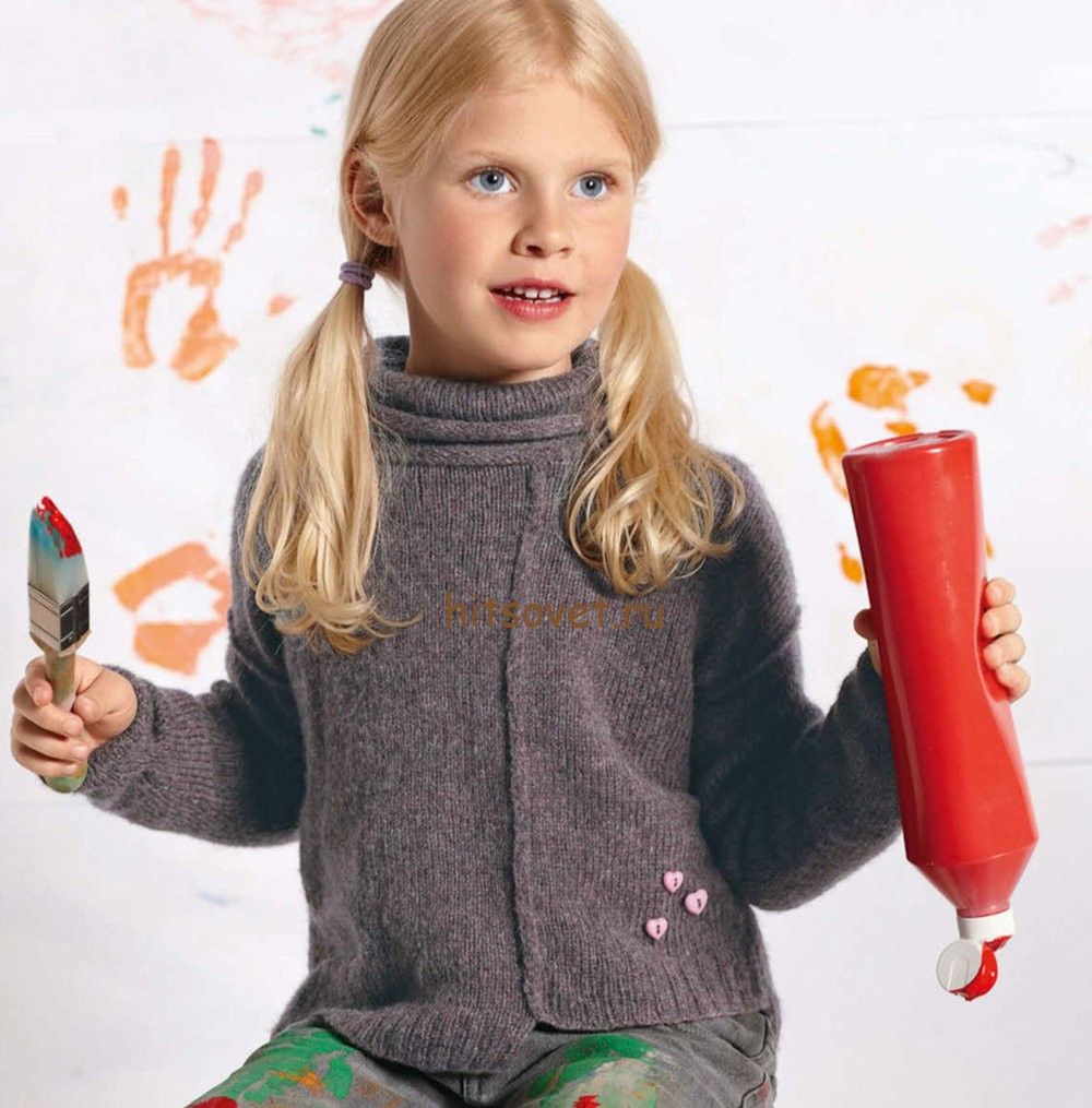 Вязание пуловера для девочки, фото.