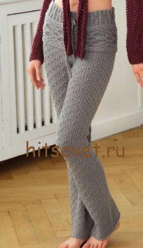 Вязаные брюки женские, фото 2.