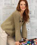 Жакет с плетеным узором, фото.