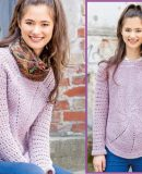 Пуловер крючком схемы и описание, фото.