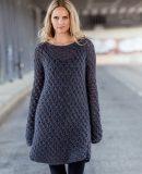 Стильное вязаное платье, фото.