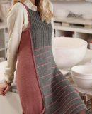 Модный сарафан спицами, фото.