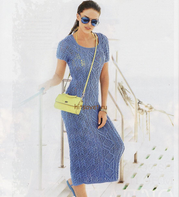 Облегающее вязаное платье, фото.