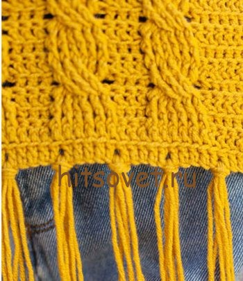 Пуловер с косами крючком, фото 2.