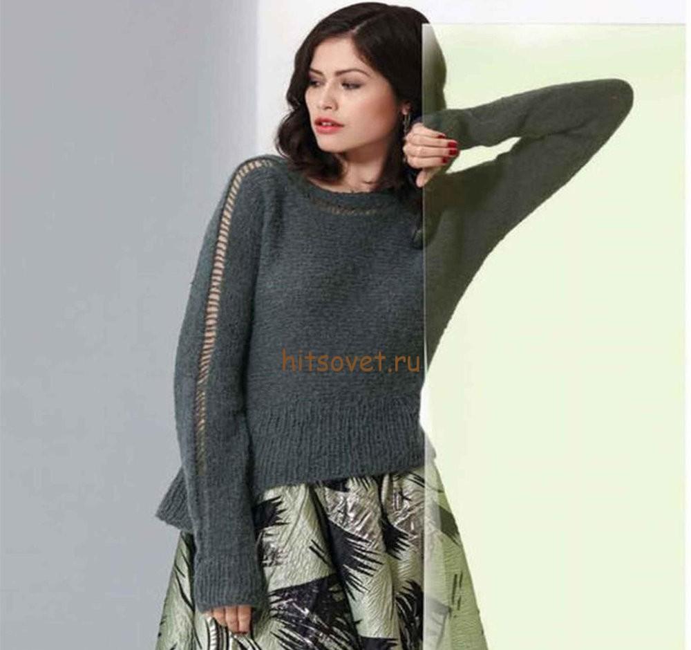 Свободный пуловер женский