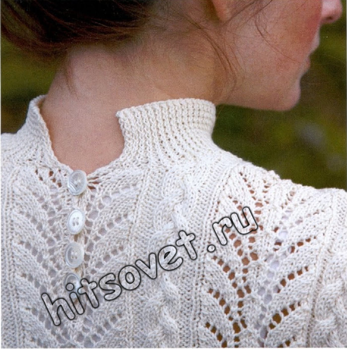 Белый джемпер с коротким рукавом, фото 2.