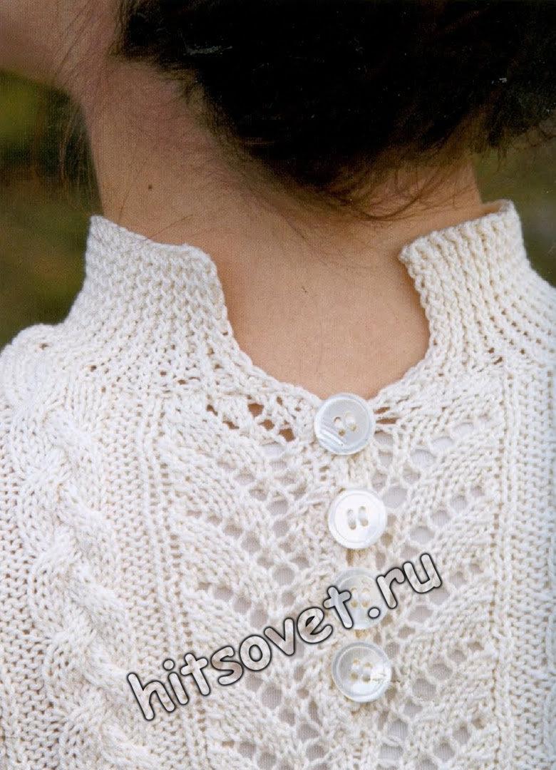 Белый джемпер с коротким рукавом, фото 3.