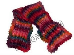 Красивый шарф спицами схема, фото 2.
