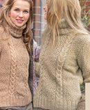 Модный свитер спицами, фото.