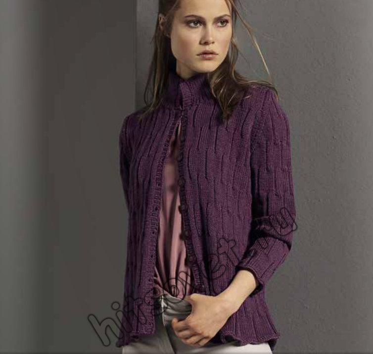Модный жакет спицами для женщин, фото.