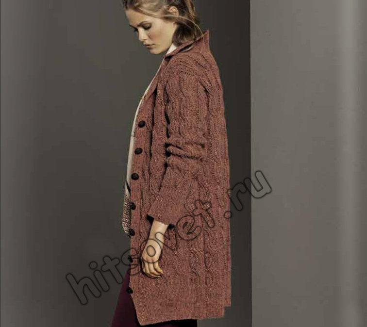 Удлиненный жакет спицами для женщин, фото.