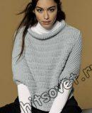 Вязание спицами свободный пуловер, фото.