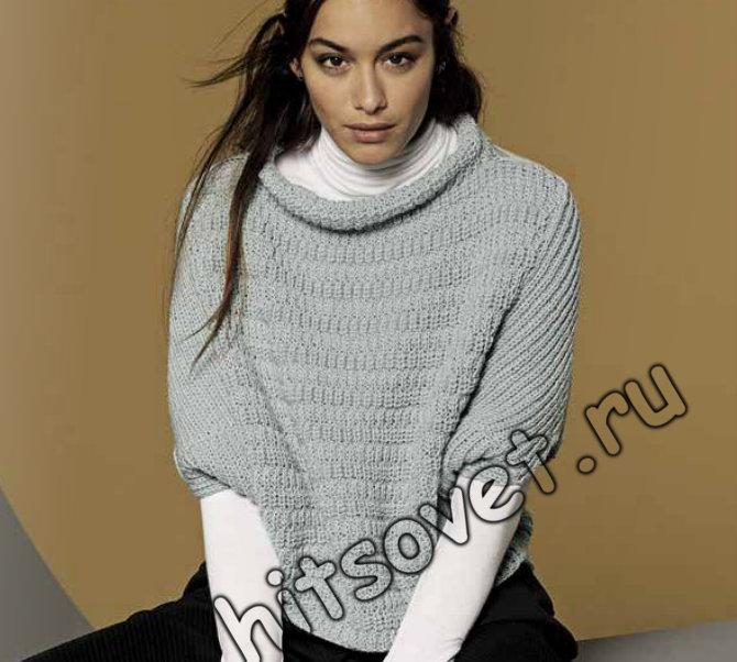 Вязание спицами свободный пуловер