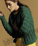 Вязание спицами жакета для женщин, фото.