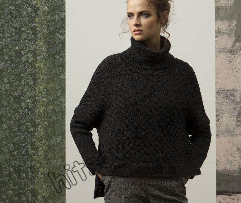 Модный свитер спицами женский