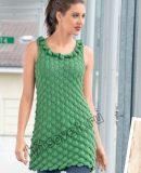 Платье с листьями, фото.