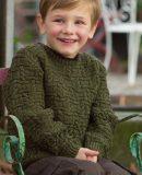 Пуловер для мальчика спицами, фото 1.