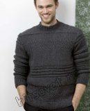 Стильный мужской пуловер, фото 1.
