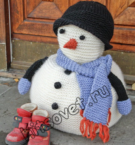 Вязание снеговика спицами, фото.