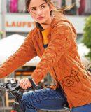 Жакет с капюшоном спицами, фото.