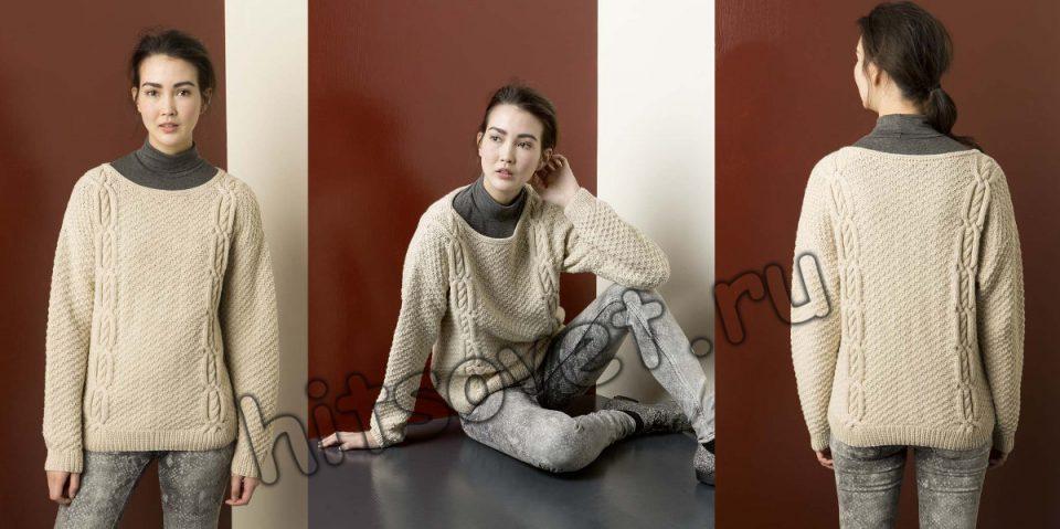 Модный джемпер с косами, фото 2.