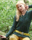 Модный пуловер с косами, фото.