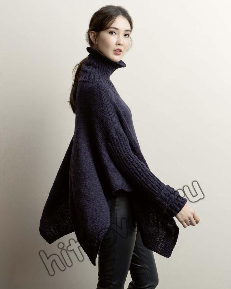 Пончо пуловер