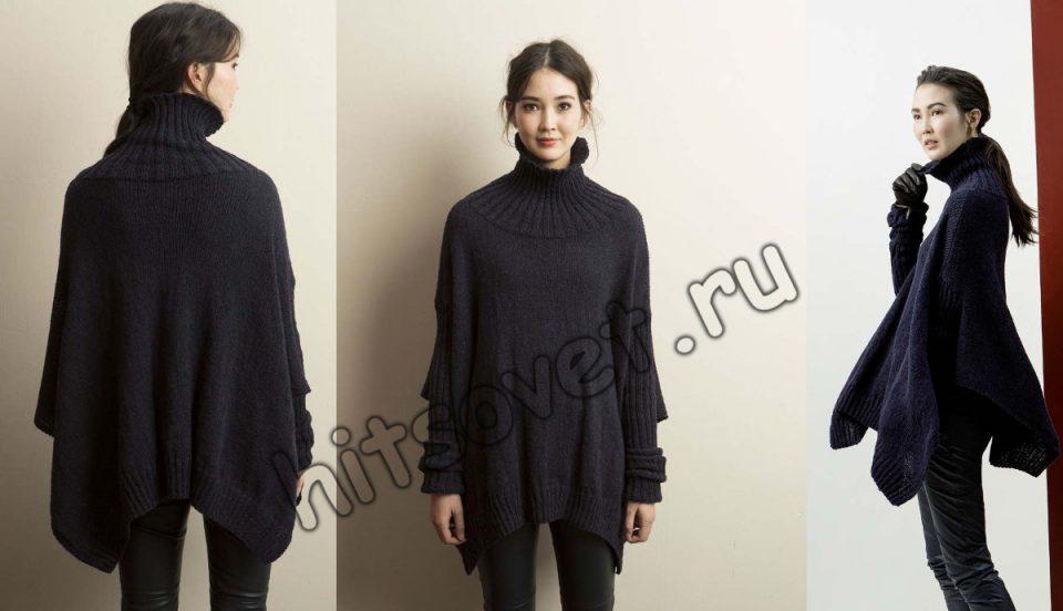 Пончо пуловер, фото 2.