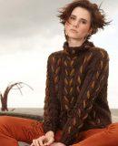 Пуловер с двухцветной косой, фото.