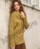 Удлиненный свитер, фото.