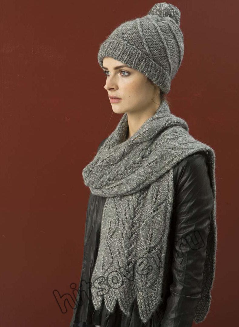Вязаная шапка и шарф, фото 1.