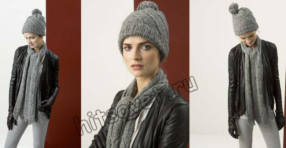 Вязаная шапка и шарф, фото 2.