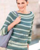 Пуловер реглан без швов, фото.