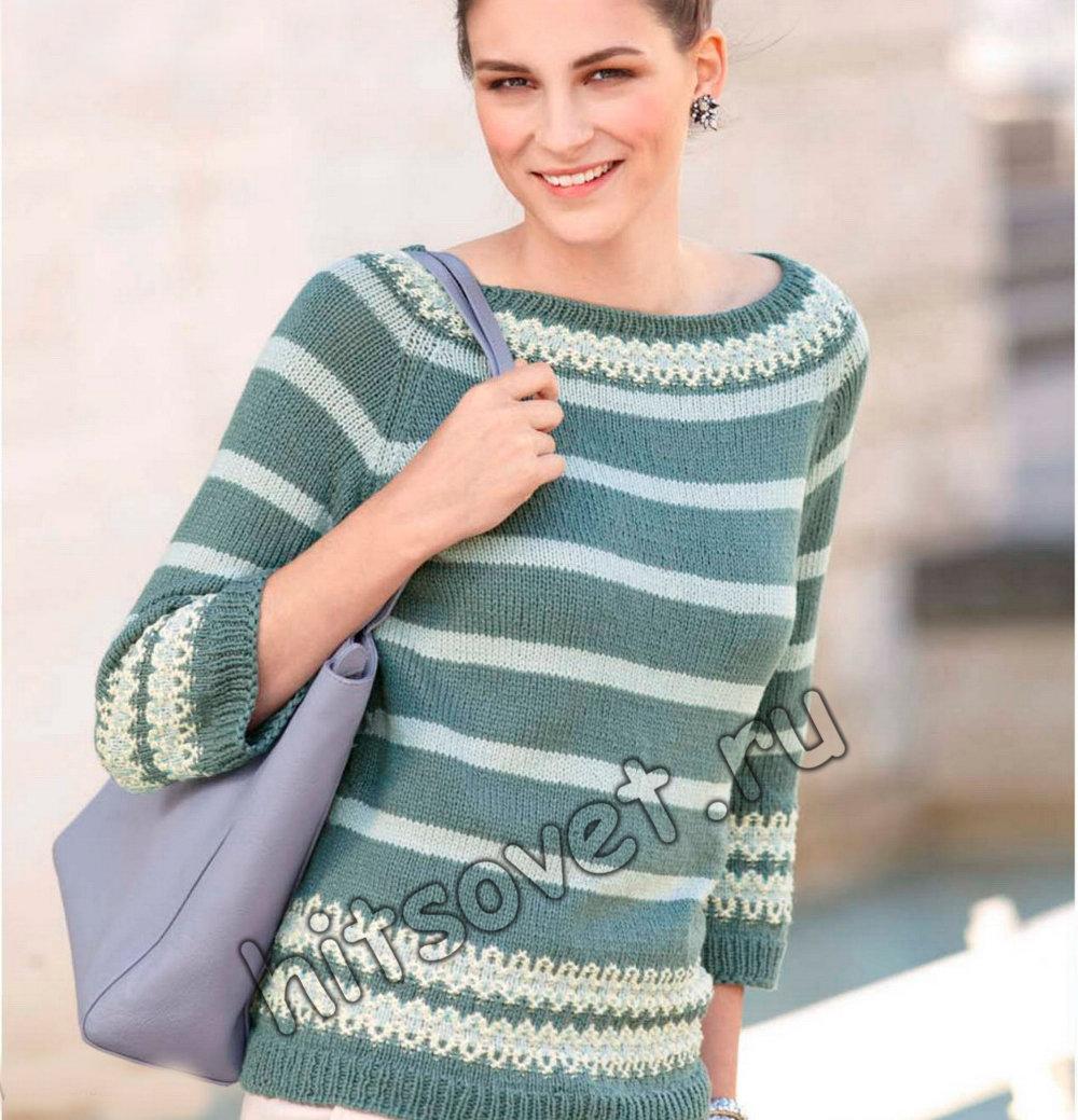 Пуловер реглан без швов