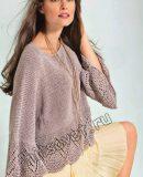 Свободный пуловер описание и схемы, фото.