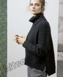 Свободный вязаный свитер, фото 1.