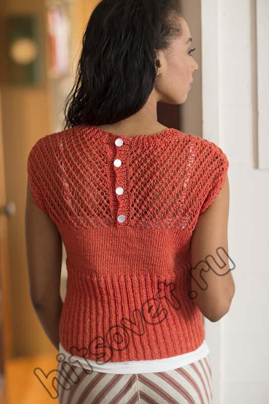 Вязаная кофточка для женщин спицами, фото 2.