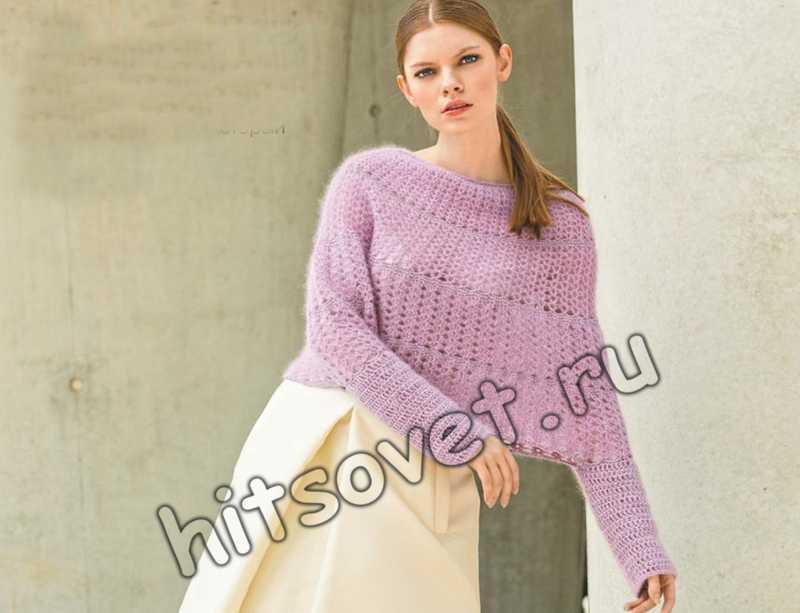 Модное вязаное пончо, фото.